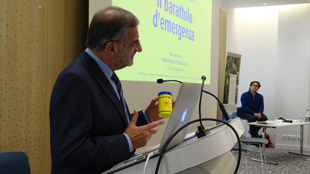 Vincenzo Palmero presenta il Barattolo dell'Emergenza a Quality of Life