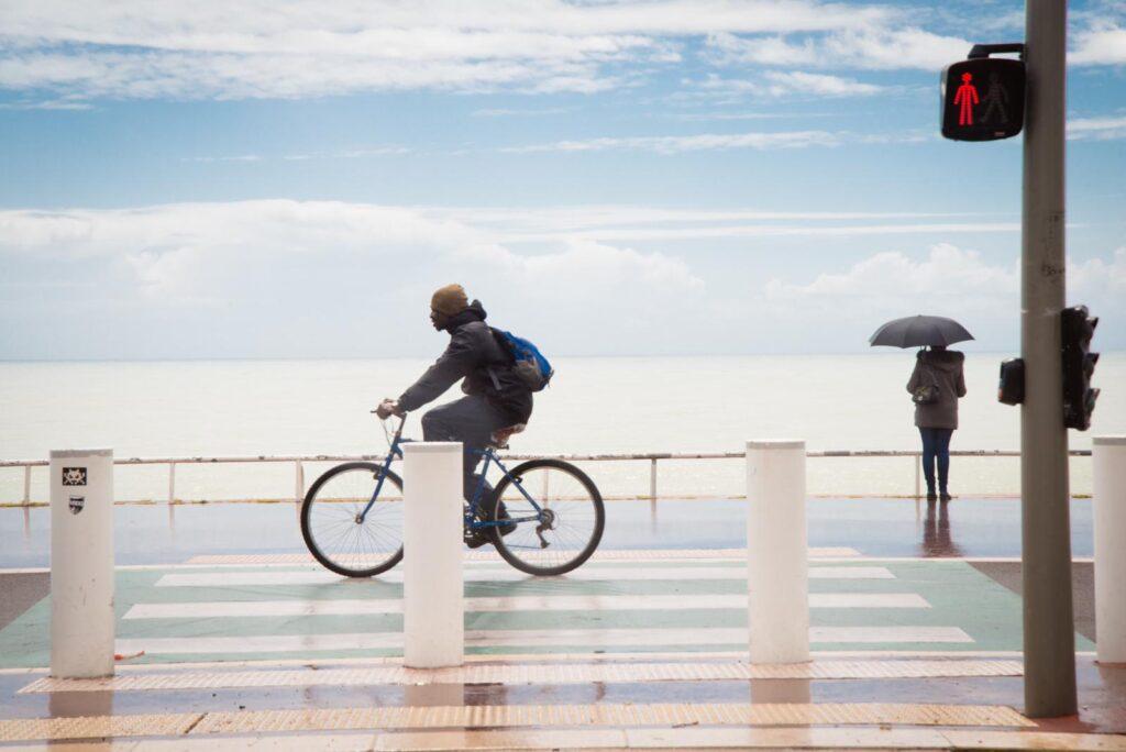 Nice à bicyclette (ph Antonella Fava)