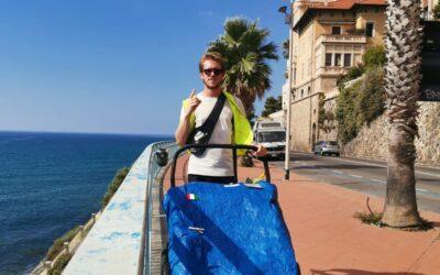 Nicolò giro del mondo passando dalla Costa Azzurra