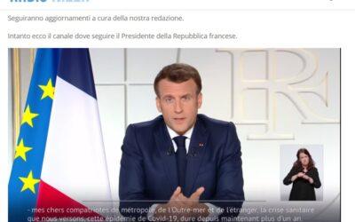L'allocution di Macron in sintesi