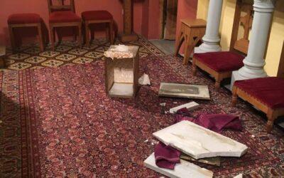 Furto e vandalismo in chiesa a Nizza