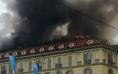 Torino un incendio devastante